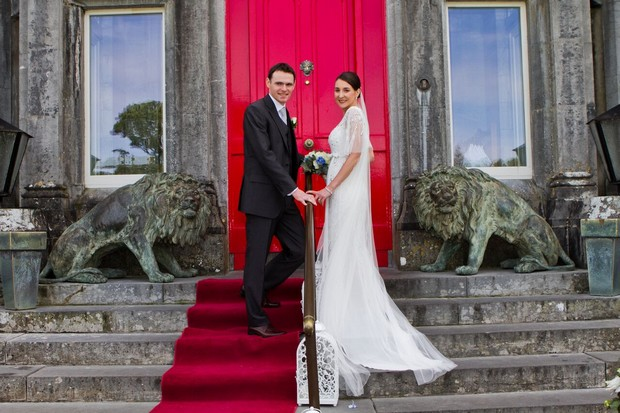 bride-and-groom-outside-ballyseede-castle-wedding-kerry