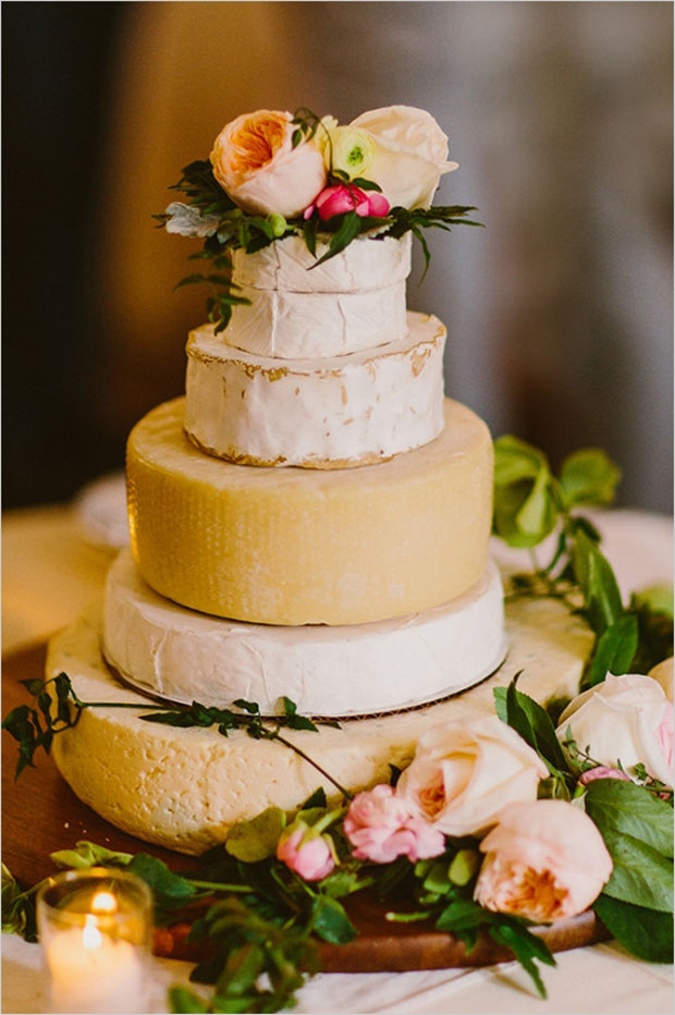 Cheese Rounds Wedding Cake