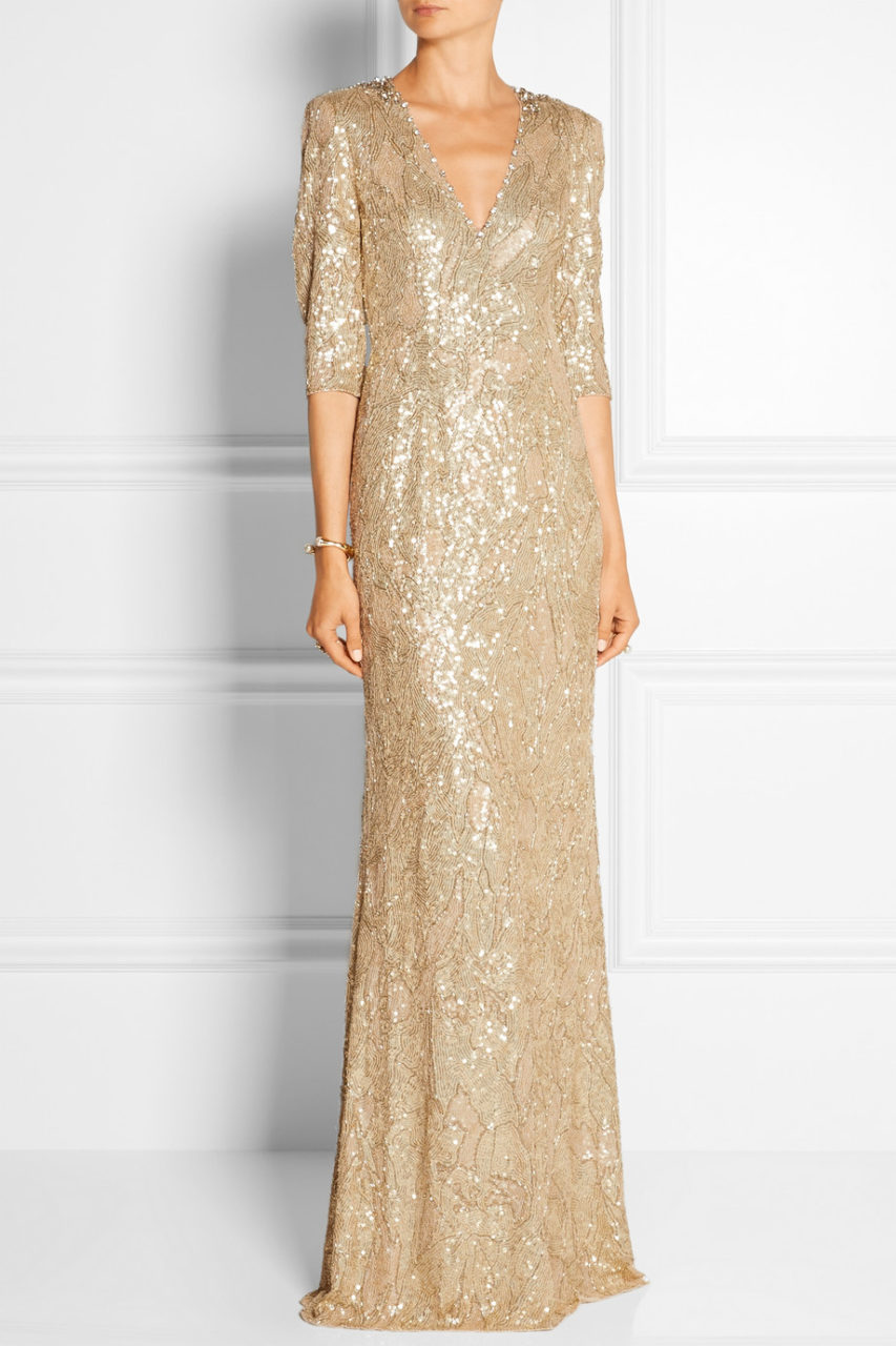 gold sequin wedding dresses