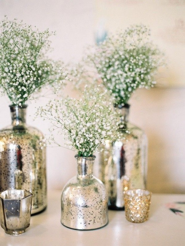 23 stunning rustic wedding centrepieces weddingsonline metallic wedding centerpiece vase silver junglespirit Image collections