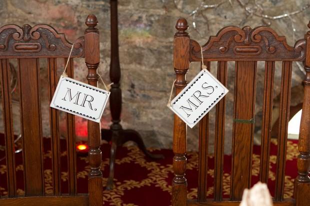 mr-mrs-chairs-wedding-reception-decor-ballyseede-castle-kerry