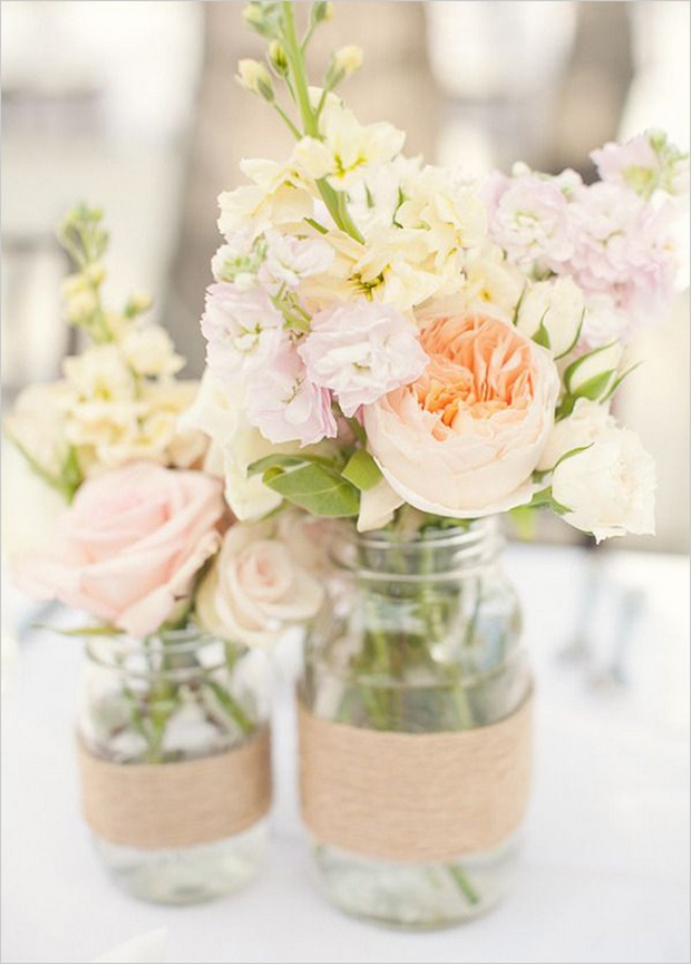 peony-mason-jar-centerpiece-rustic-diy-wedding