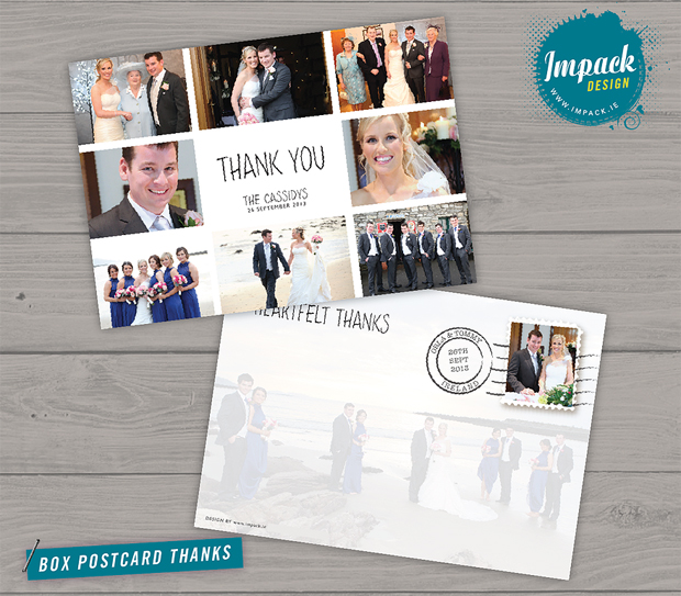 Photo Montage Thank You Card Impack
