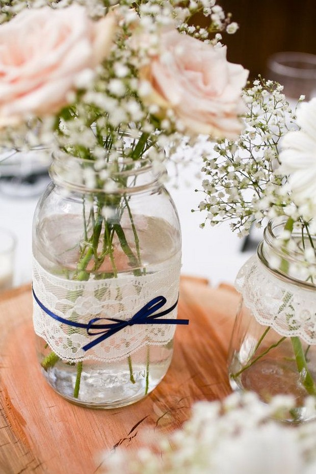 Mason Jar Wedding Centerpieces.23 Stunning Rustic Wedding Centrepieces Weddingsonline