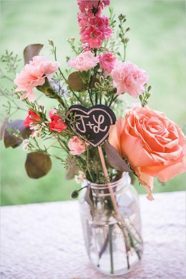 Rustic Mason Jar Wedding Centerpiece 3