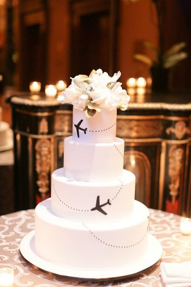 Aviation Themed Wedding Cake