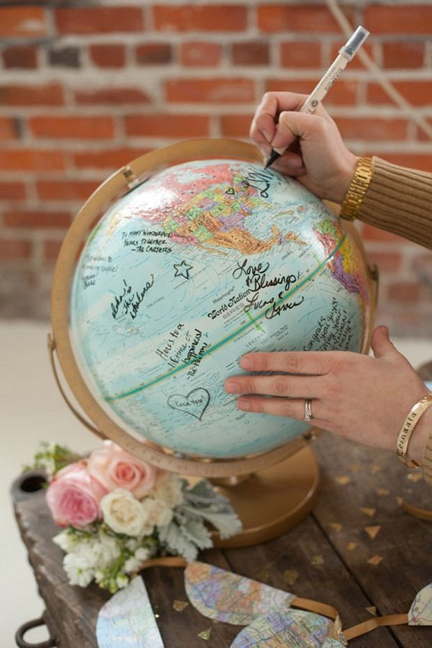 travel-theme-wedding-guestbook-globe