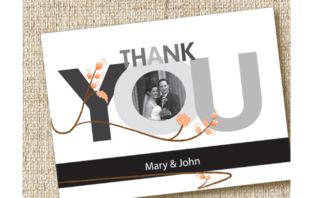 Wedding Thank You Card Stephs Personalised Cards