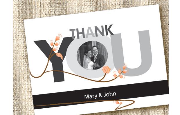 18 Beautiful Wedding Thank You Cards from Irish Stationery – Wedding Thank You Card Designs