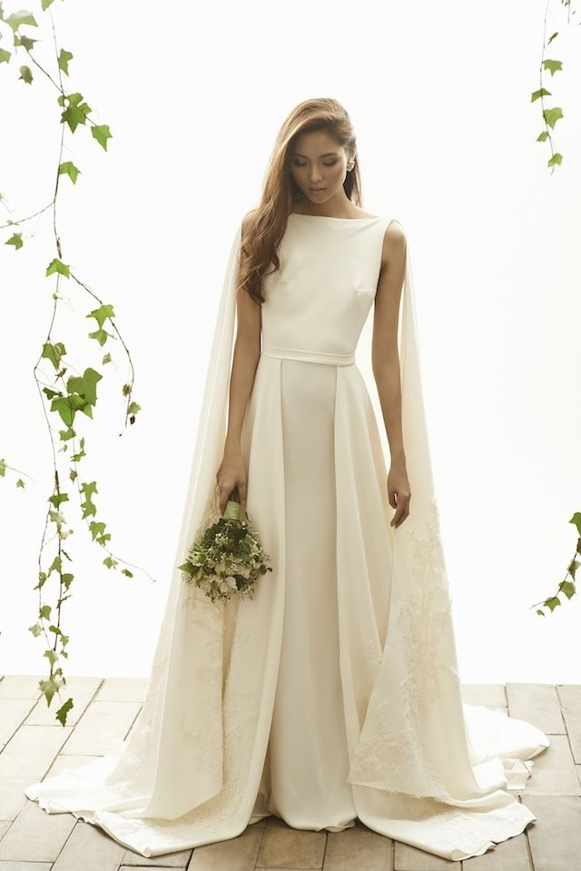 Vania Romoff Wedding Dress with Cape