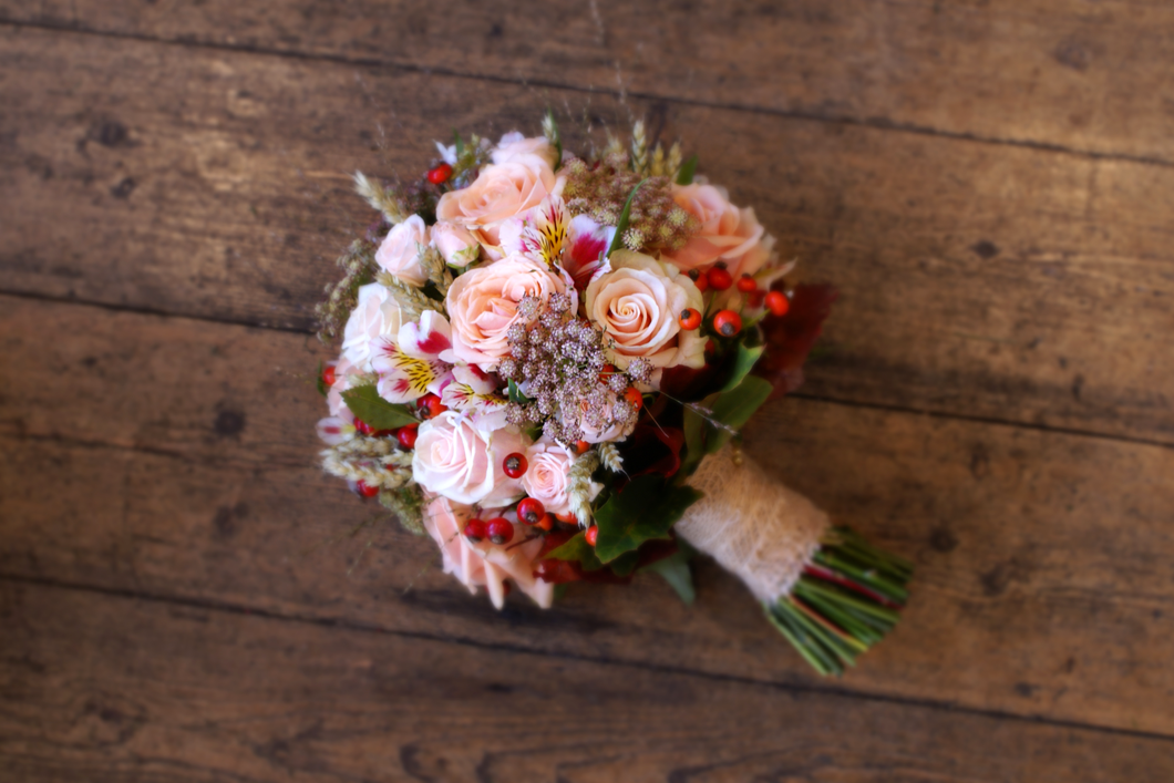 Autumn Bridal Bouquet Pale Pink Bloomsday Flowers