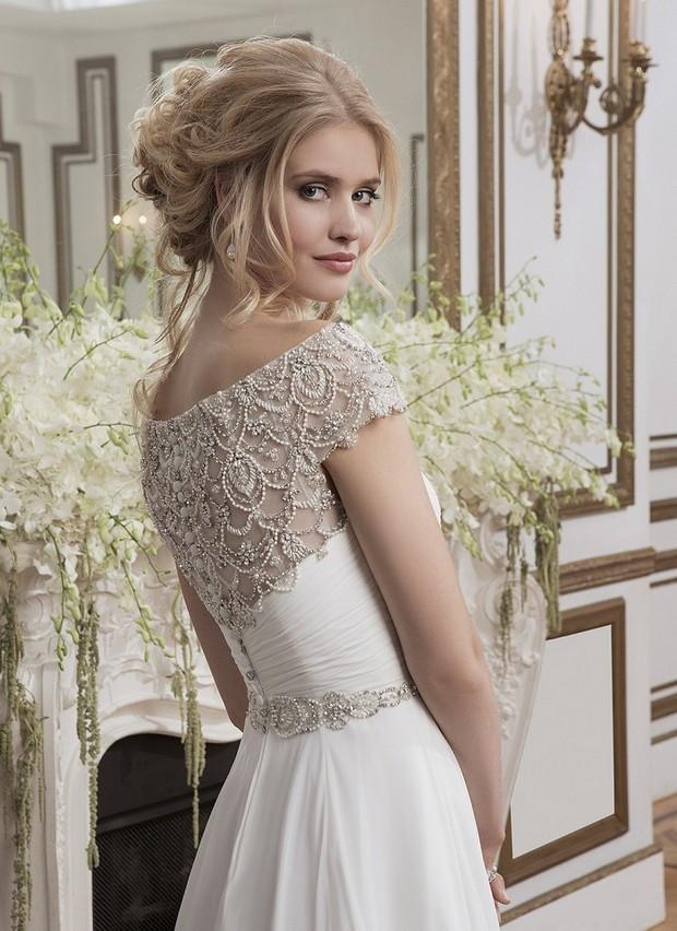 Beaded Embellished Back Wedding Dress Justin Alexander 2016