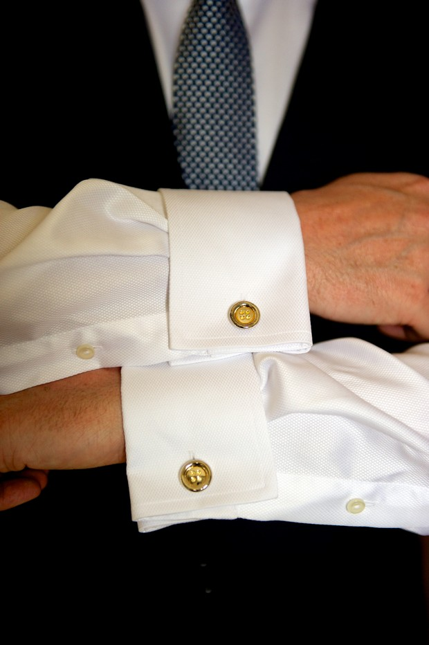 gold-button-wedding-cufflinks