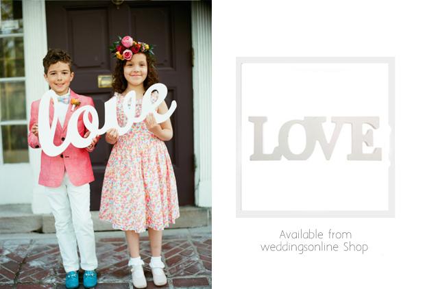 love-wedding-sign-flower-girls-page-boy