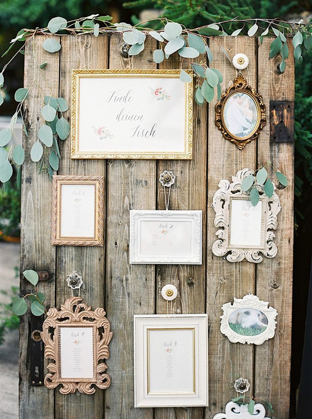 12 Fab Ways to Use Frames in Your Wedding | weddingsonline