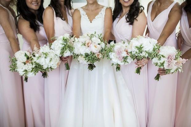 romantic-pale-pink-bridesmaids-wedding-bouquets