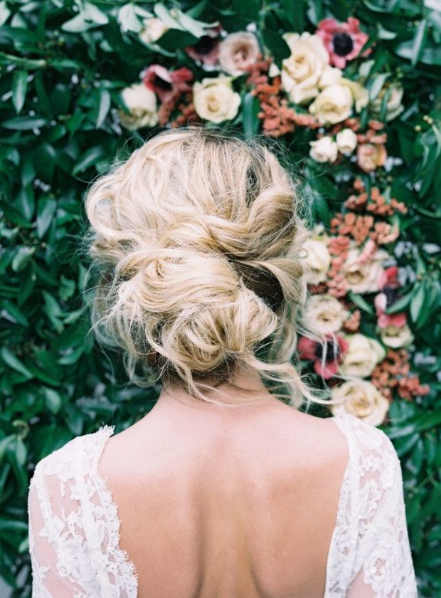 Soft Loose Wedding Hair Boho Bride Look