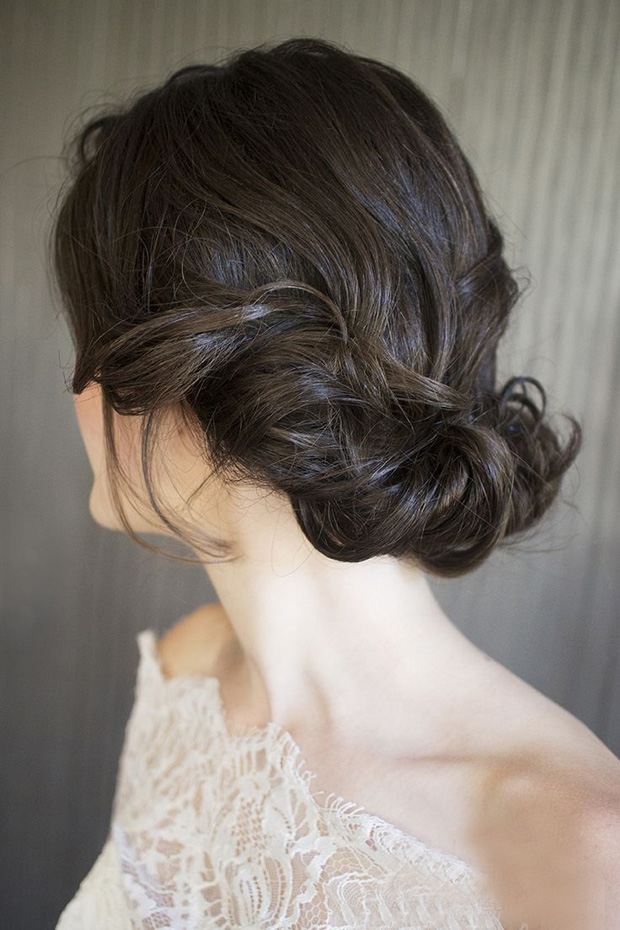 23 absolutely timeless wedding hairstyles twisted updo wedding hairstyle junglespirit Images