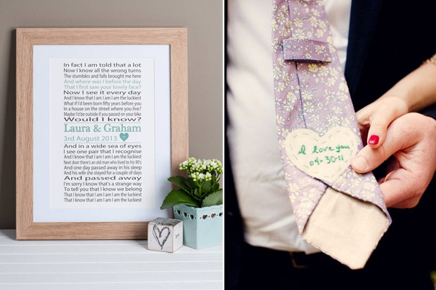 Ideas For Wedding Gift From Groom To Bride : 18 Sweet Wedding Day Gift Ideas For Brides & Grooms weddingsonline
