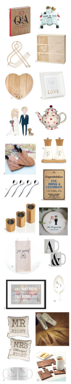22 Thoughtful Gift Ideas For Newlyweds