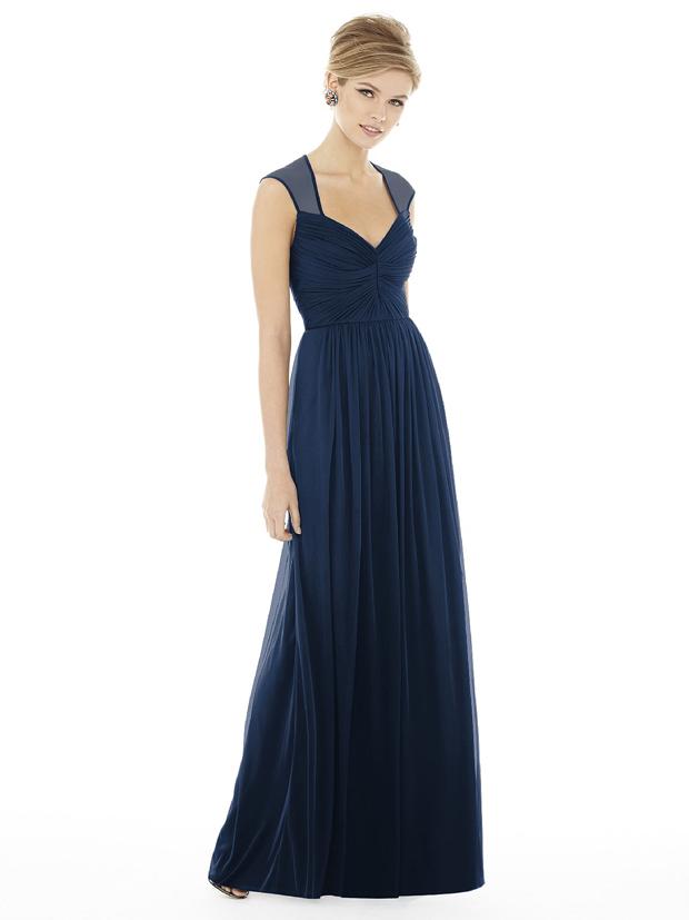 alfred-sung-navy-bridesmaid-dress