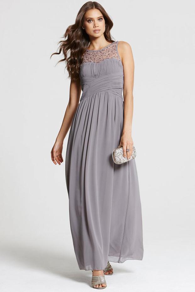 beaded-grey-bridesmaid-dress