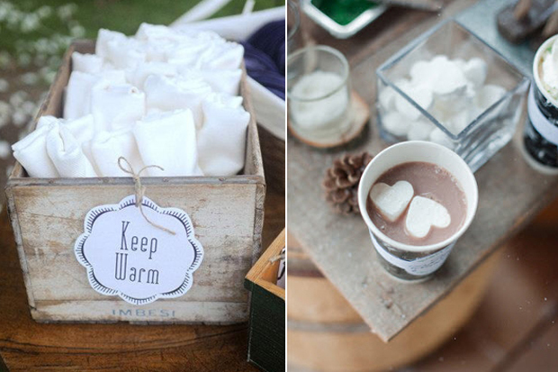 9 Cute Cosy Ideas For Winter Wedding Guests