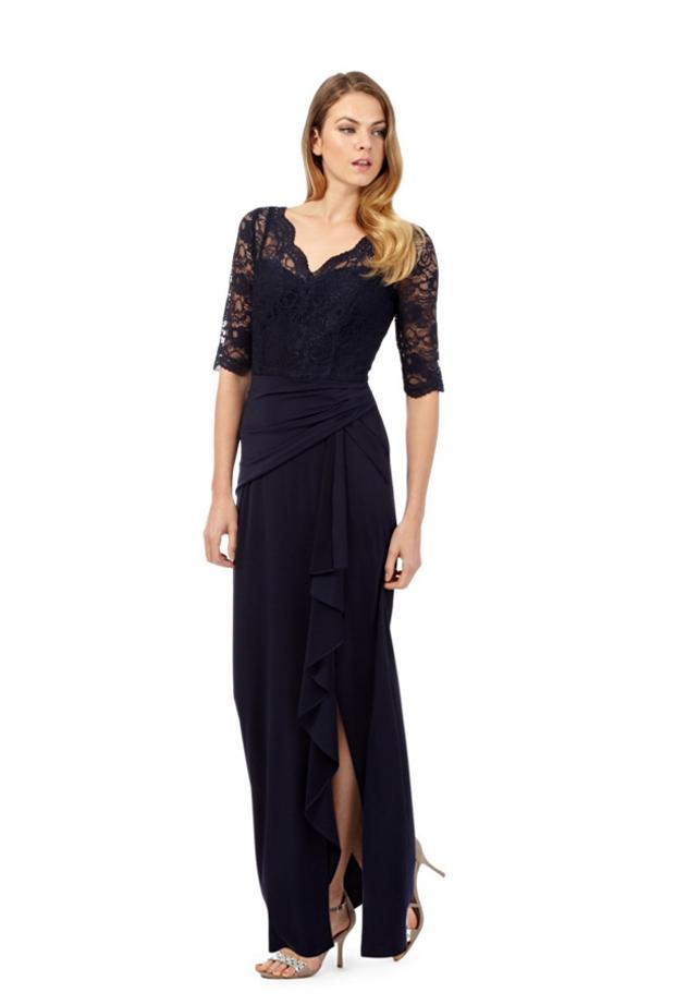 debut-lace-navy-bridesmaid-dress