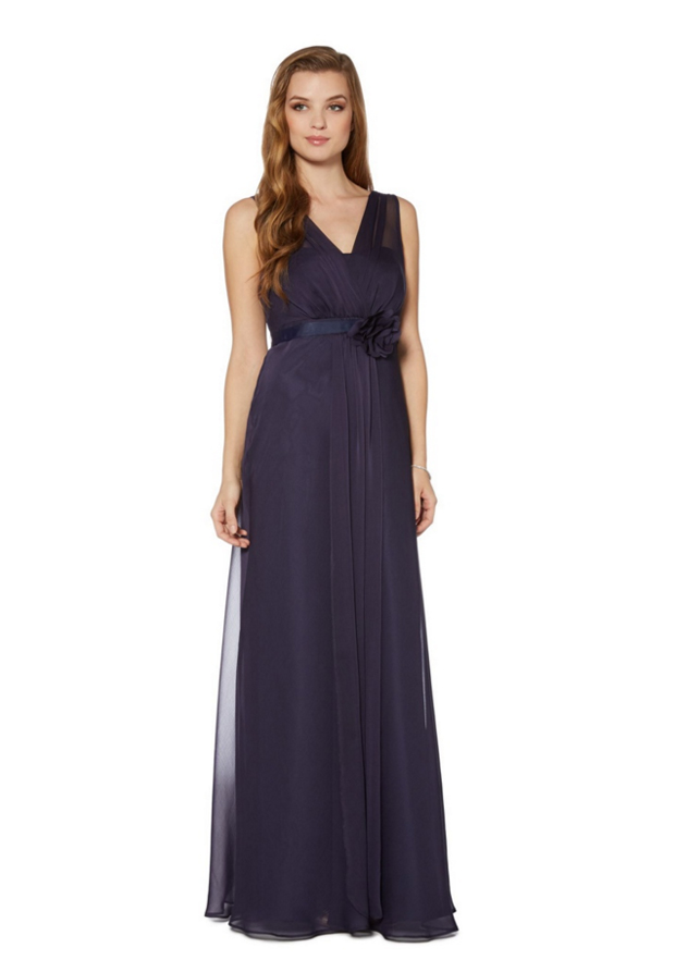 debut_corsage_navy_bridesmaid_dress