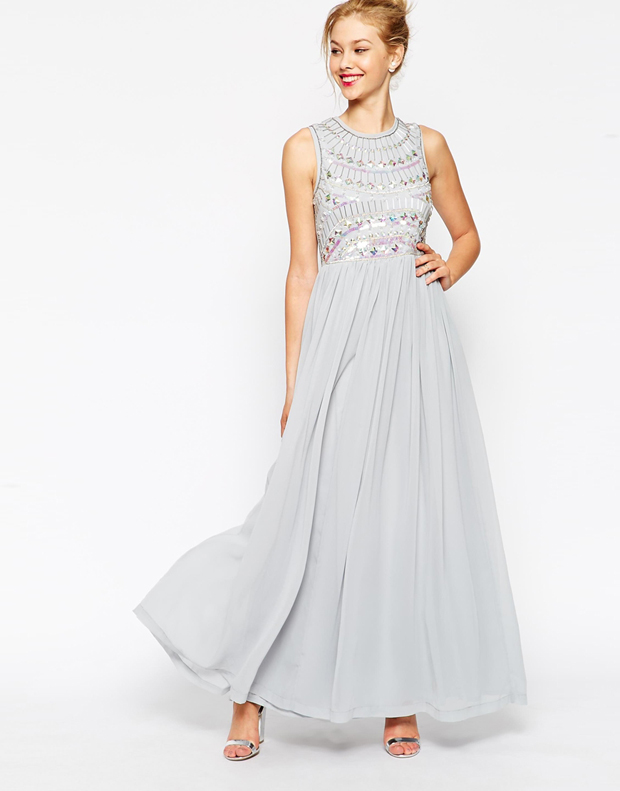 embellished-light-grey-bridesmaid-dress