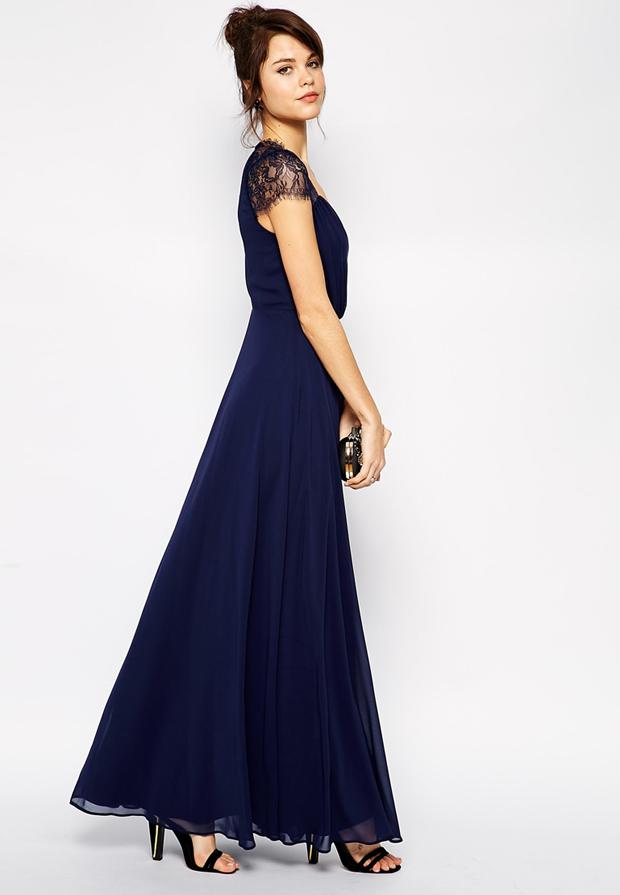 lace-sleeve-navy-bridesmaid-dress