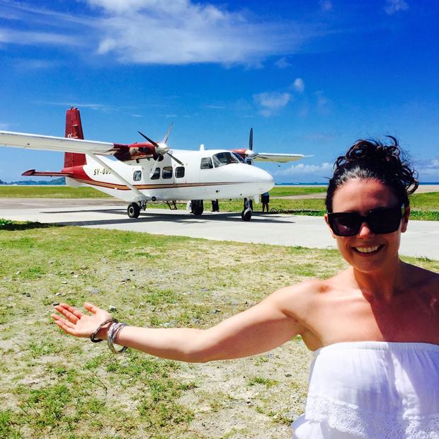 lisa-cannon-honeymoon-plane