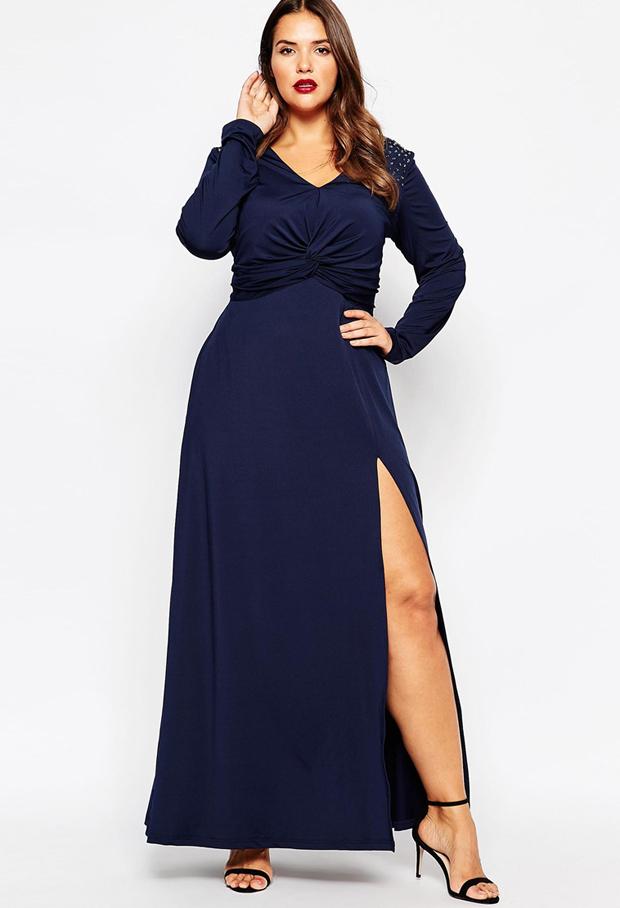 navy-long-sleeve-bridesmaid-dress