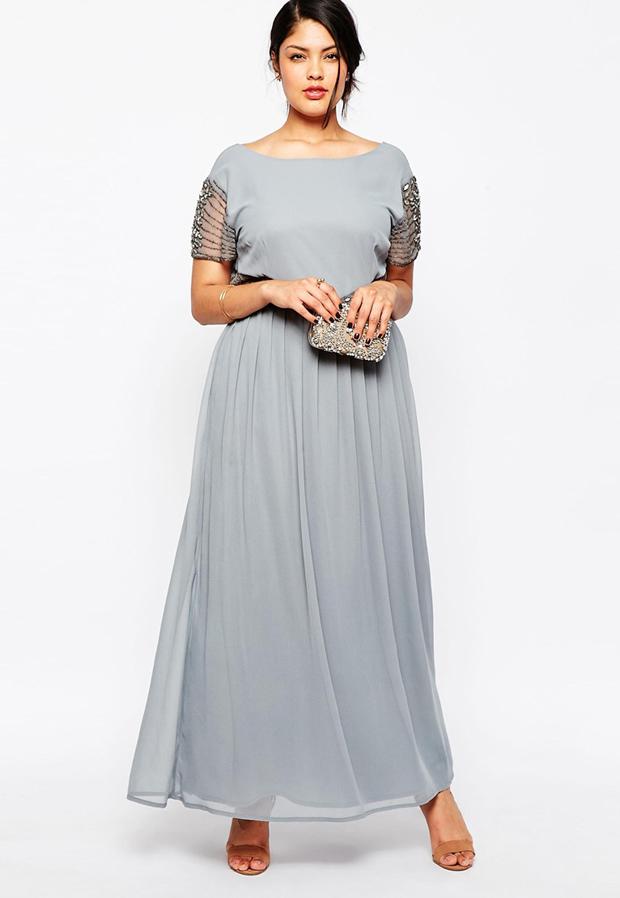 plus-sizegrey-bridesmaid-dress
