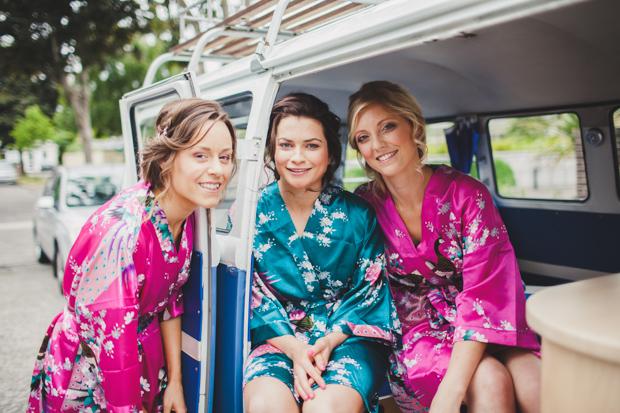 14-fun-wedding-morning-bridesmaids-silk-robe-vintage-wedding-car (3)