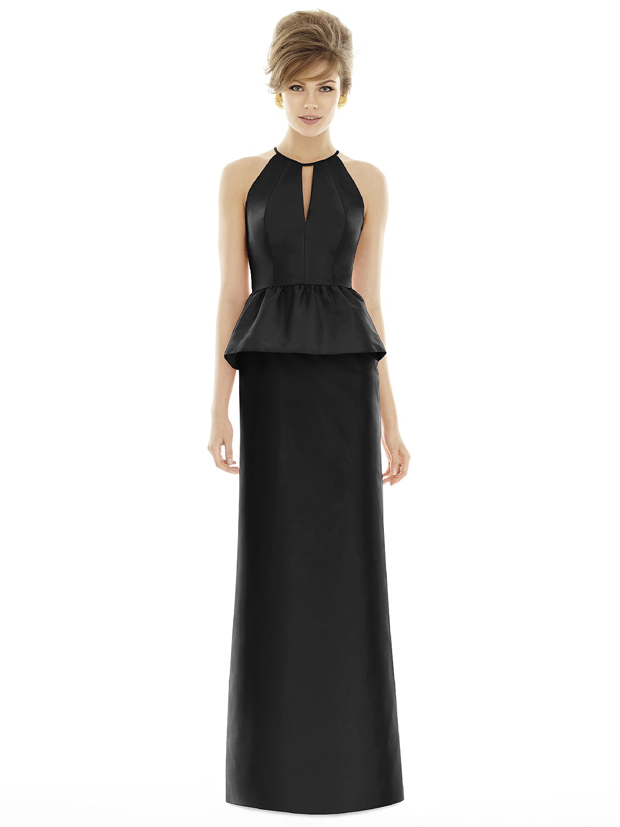 alfred-sung-style-d690-black-bridesmaid-dress