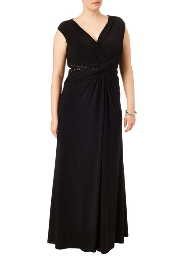 black-plus-size-bridesmaid-dress