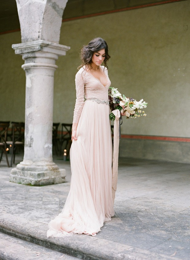 Blush Wedding Dress Dublin : Breathtaking winter wedding dresses for