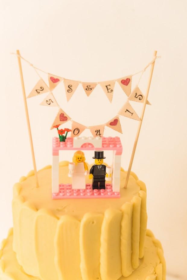 Personalised Lego Wedding Cake Topper