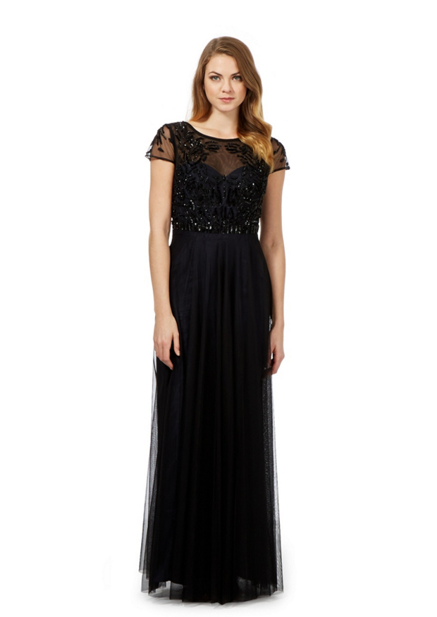 debut-black-bridesmaid-dress