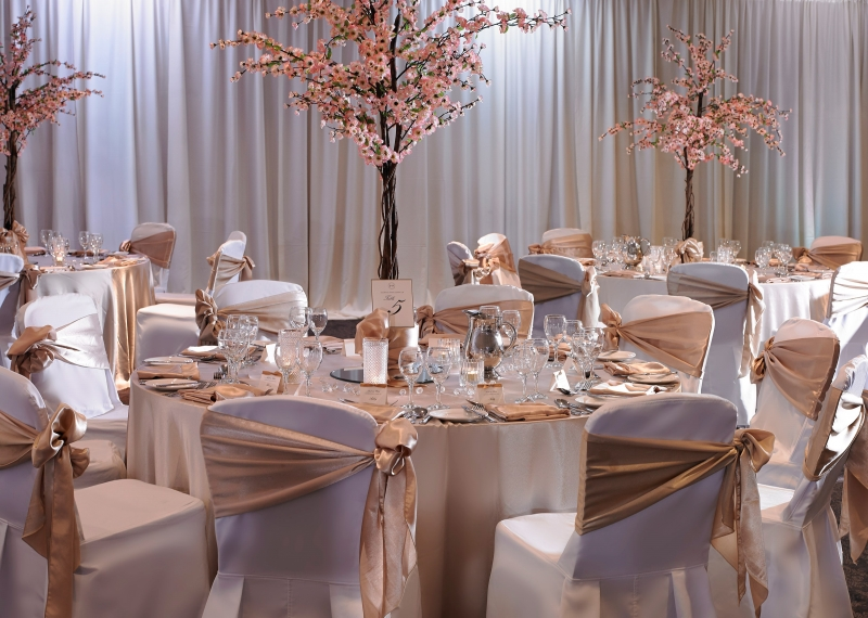 Formal Elegant Chair Covers Bronze Wedding