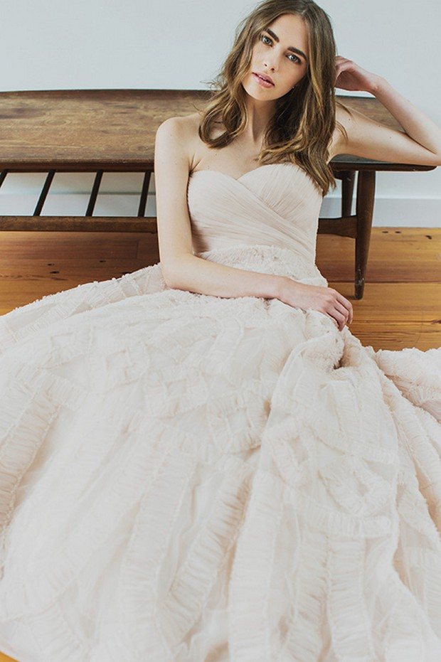 lovely-bride-blush-wedding-dress-winter