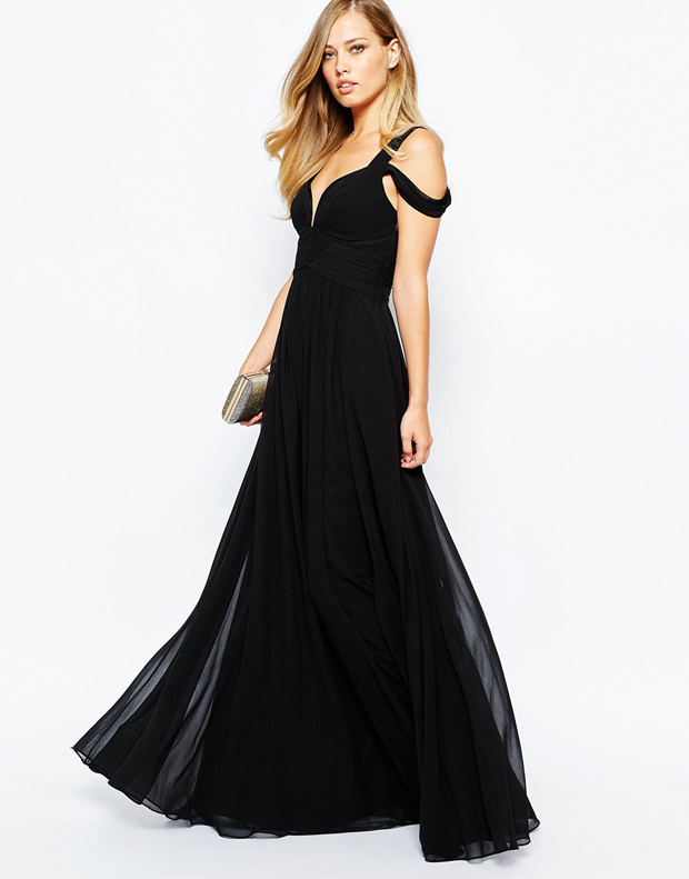 off-the-shoulder-black-bridesmaid-dress-asos