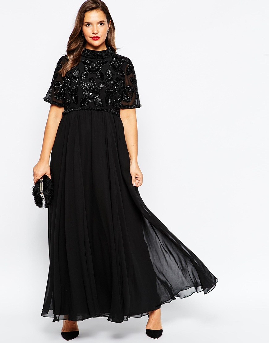 plus-size-bridesmaid-dress-black-embellished-maxi