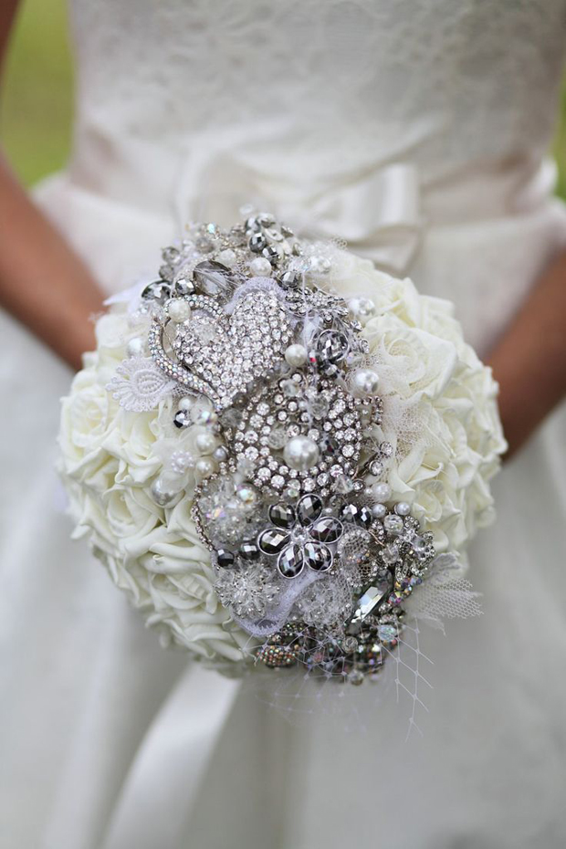 white-fresh-flower-and-silver-diamante-bridal-bouquet