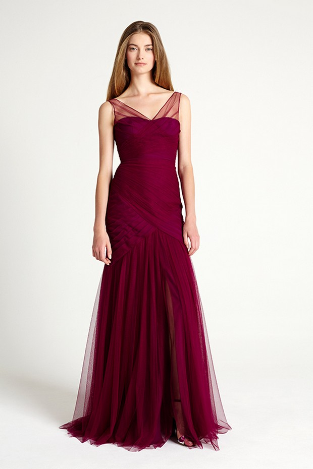 winter-bridesmaid-dresses-maroon-monique-lhuillier-bridesmaids
