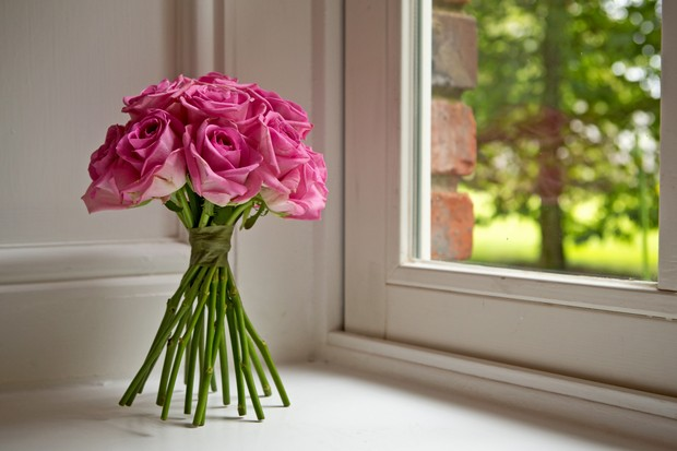 13-Hand-Tied-Pink-Rose-Wedding-Bouquet