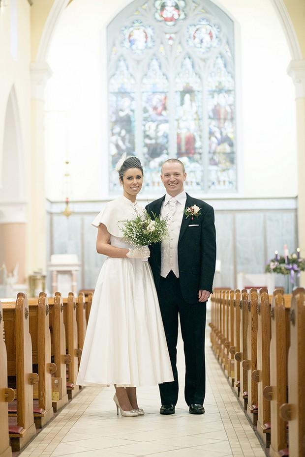 18_Winter_Wedding_Bride_Groom_Style_Tea_Length_Dress