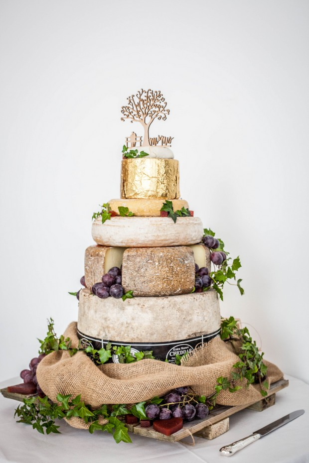 24 Cheese Wheel Wedding Cake French Rustic
