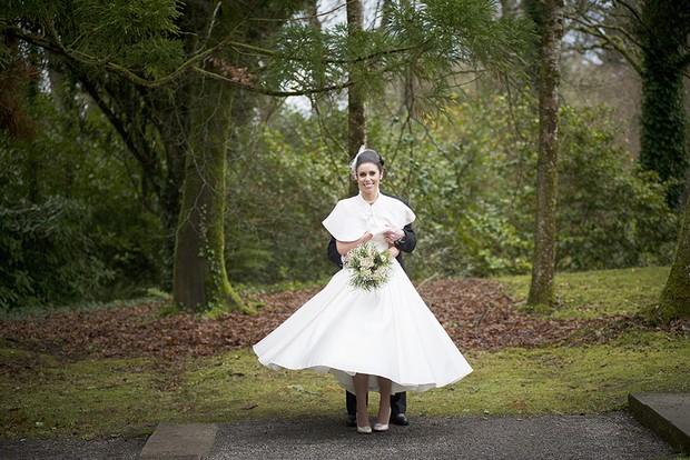 31_Vintage_Christmas_Bride_Tea_Length_Wedding_Dress_Faux_Fur